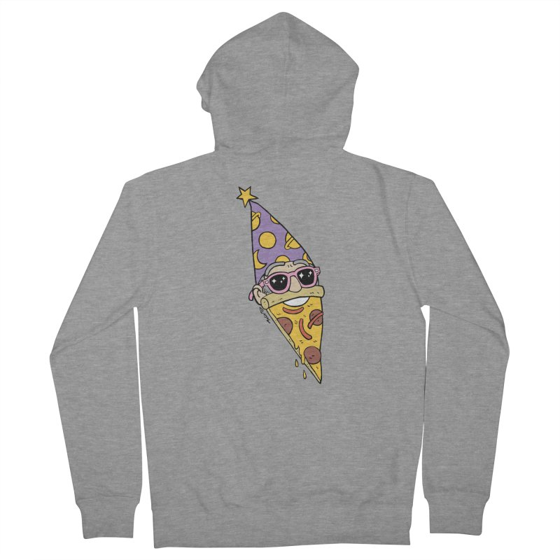 Pizza Wizard Women's French Terry Zip-Up Hoody by brianmcl's Artist Shop