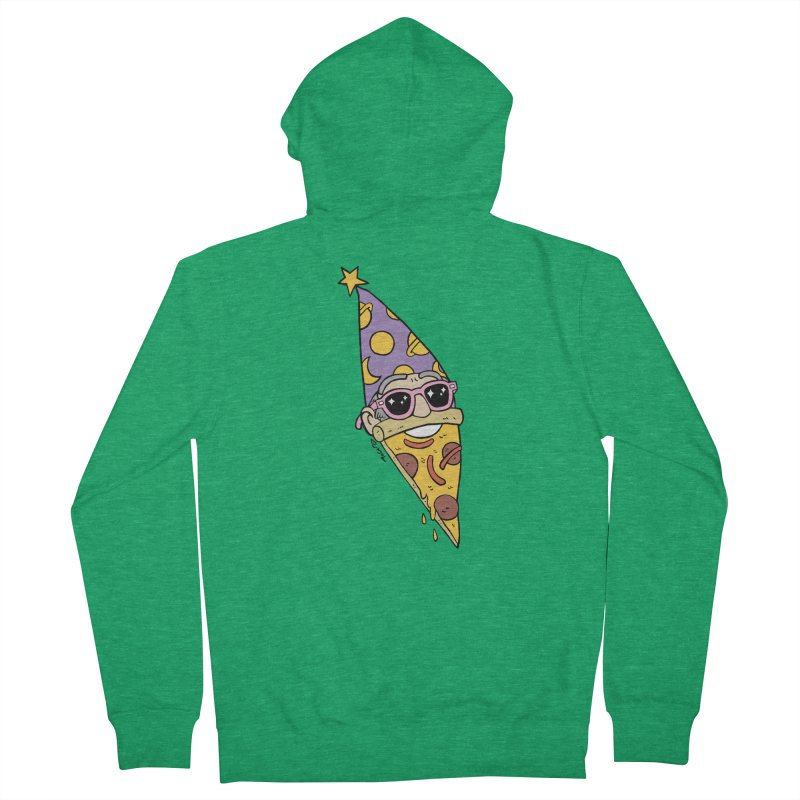 Pizza Wizard Men's Zip-Up Hoody by brianmcl's Artist Shop