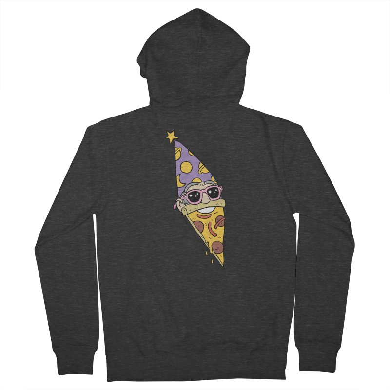 Pizza Wizard Men's French Terry Zip-Up Hoody by brianmcl's Artist Shop