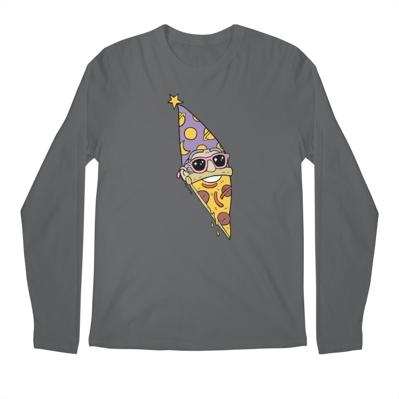 Pizza Wizard Men's Regular Longsleeve T-Shirt by brianmcl's Artist Shop