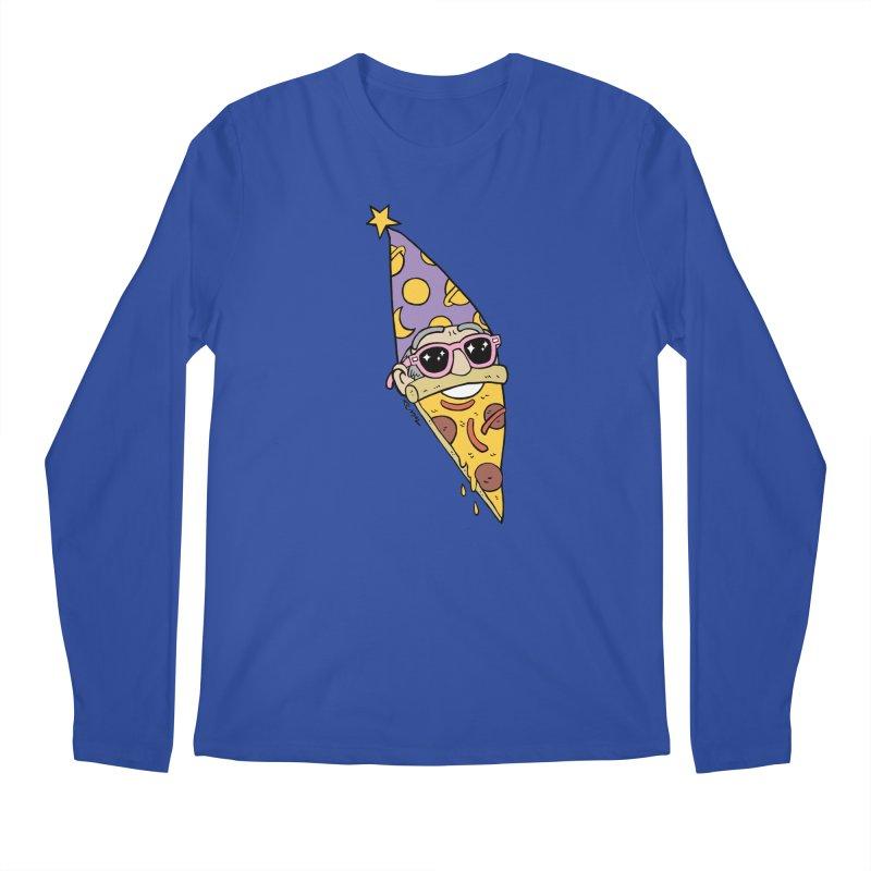 Pizza Wizard Men's Regular Longsleeve T-Shirt by brianmcl's Artist Shop