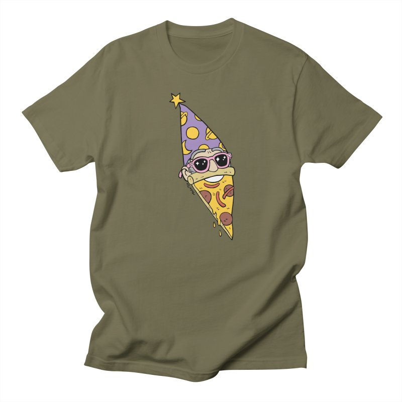 Pizza Wizard Men's T-Shirt by brianmcl's Artist Shop