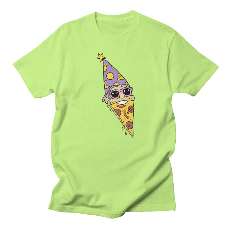 Pizza Wizard Men's Regular T-Shirt by brianmcl's Artist Shop