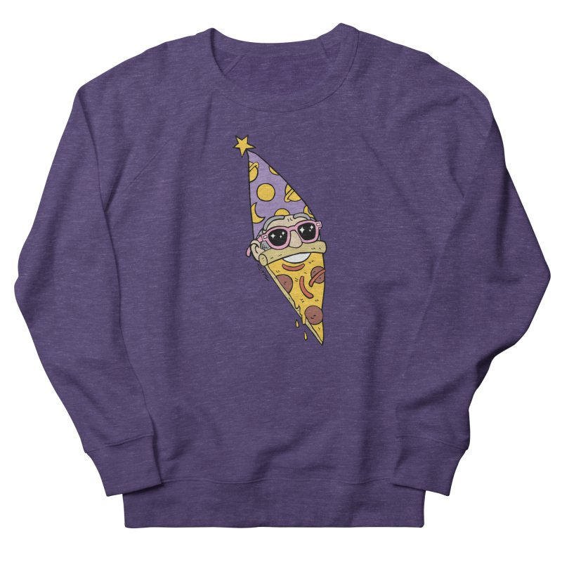 Pizza Wizard Men's French Terry Sweatshirt by brianmcl's Artist Shop