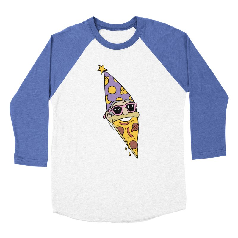 Pizza Wizard Women's Baseball Triblend Longsleeve T-Shirt by brianmcl's Artist Shop