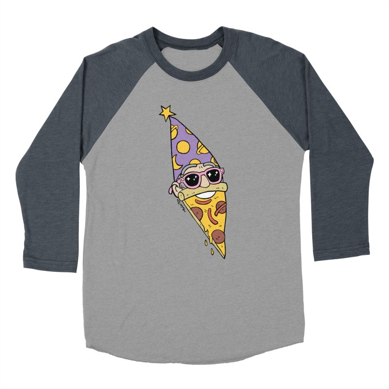 Pizza Wizard Women's Baseball Triblend Longsleeve T-Shirt by brianmcl's Artist Shop