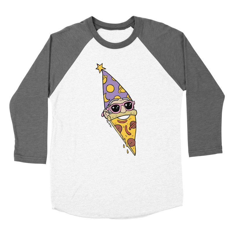 Pizza Wizard Men's Baseball Triblend Longsleeve T-Shirt by brianmcl's Artist Shop