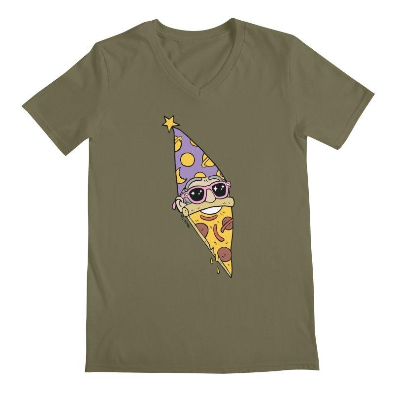 Pizza Wizard Men's Regular V-Neck by brianmcl's Artist Shop
