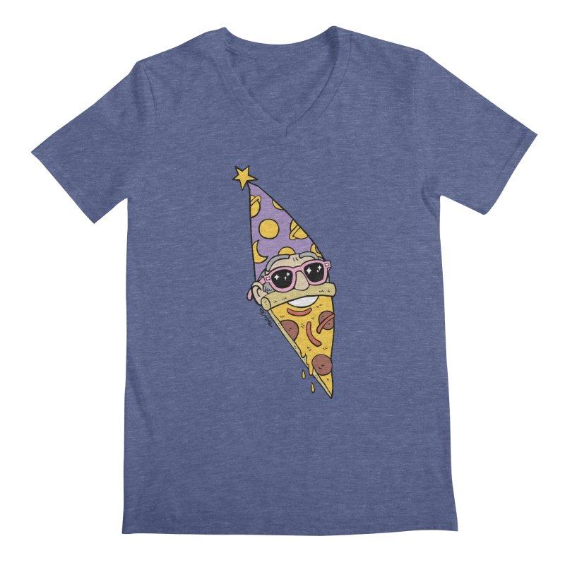 Pizza Wizard Men's V-Neck by brianmcl's Artist Shop