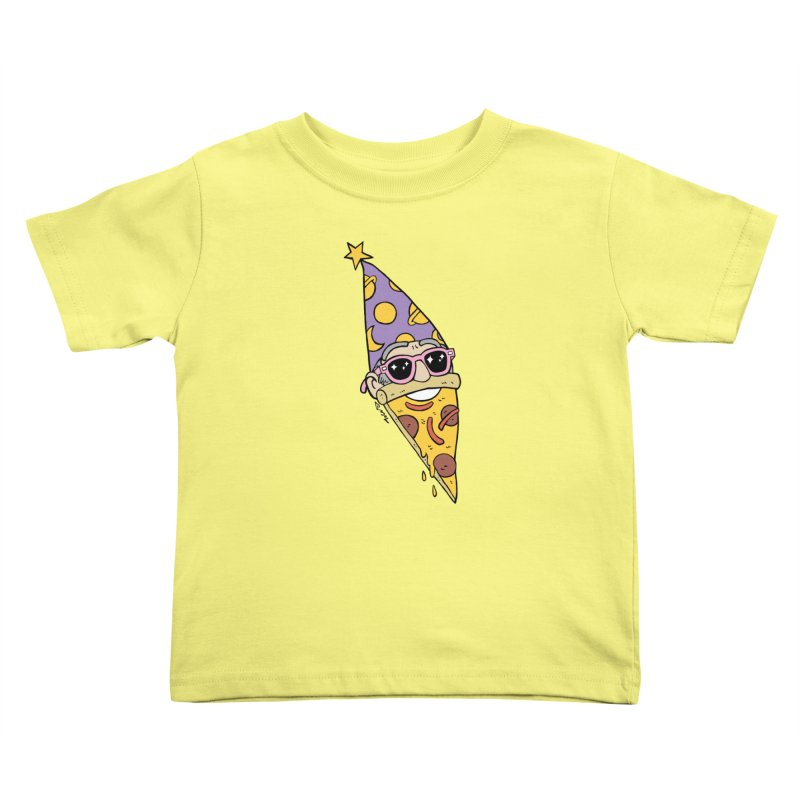 Pizza Wizard Kids Toddler T-Shirt by brianmcl's Artist Shop