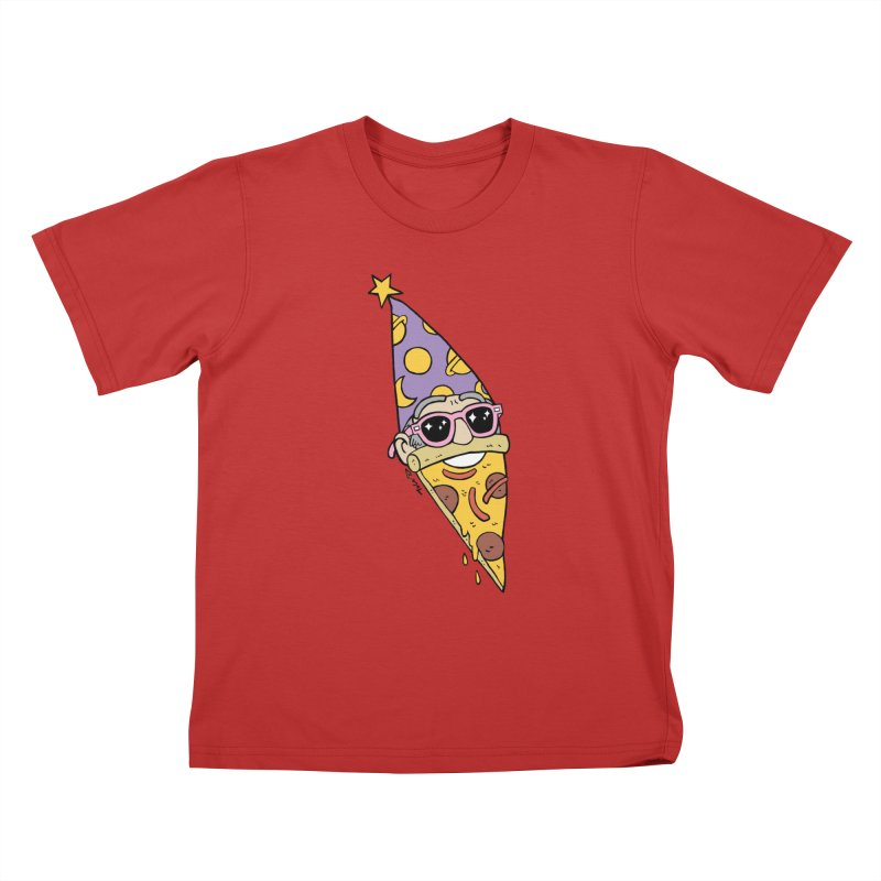 Pizza Wizard Kids T-Shirt by brianmcl's Artist Shop