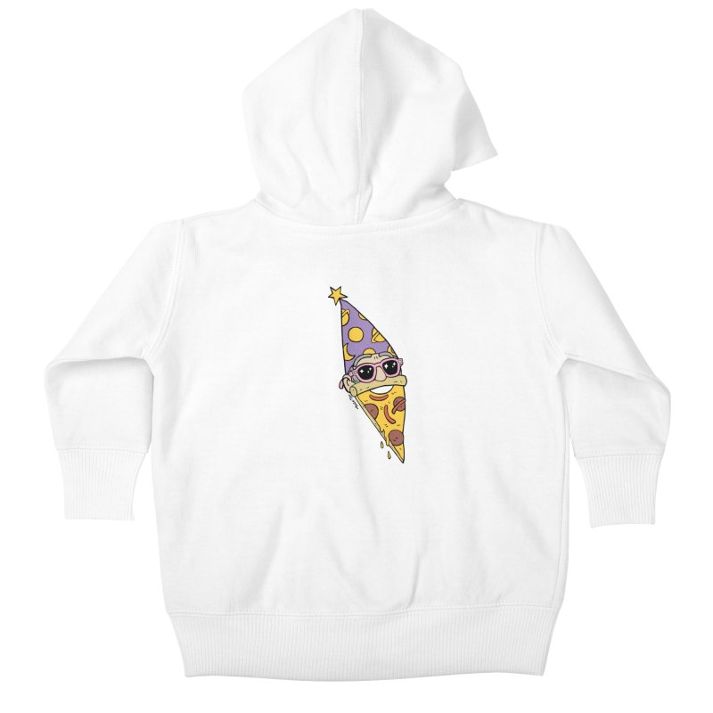 Pizza Wizard Kids Baby Zip-Up Hoody by brianmcl's Artist Shop