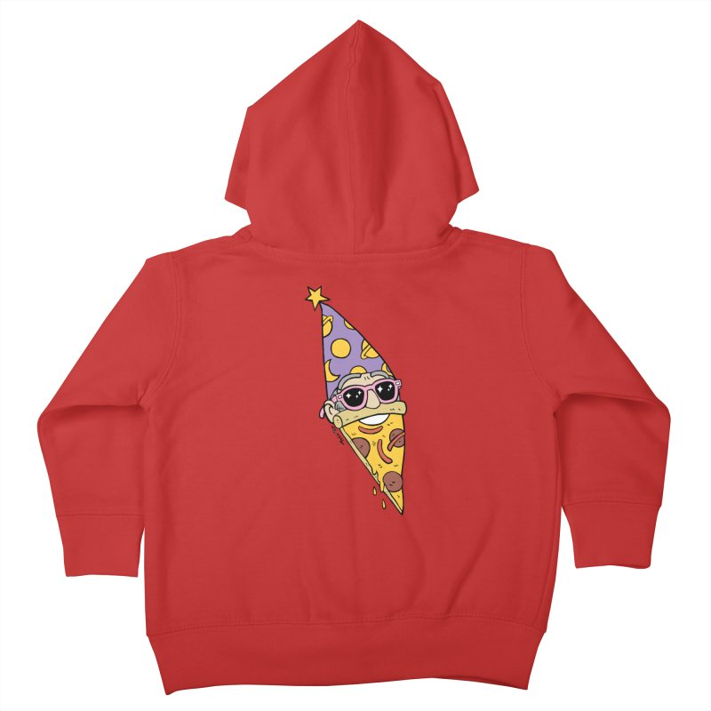 Pizza Wizard Kids Toddler Zip-Up Hoody by brianmcl's Artist Shop