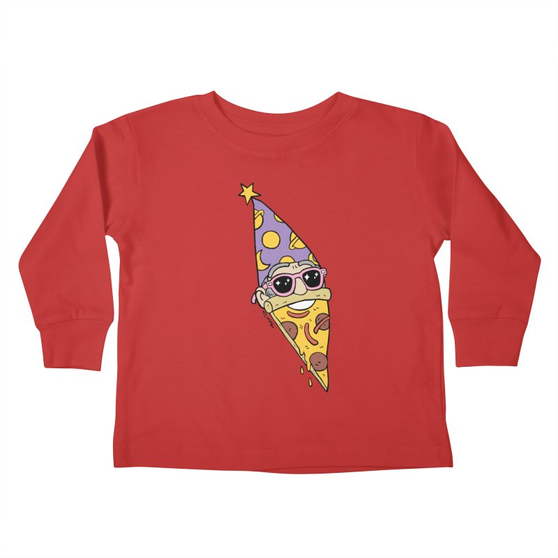 Pizza Wizard Kids Toddler Longsleeve T-Shirt by brianmcl's Artist Shop