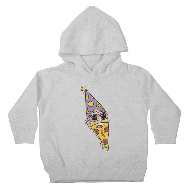 Pizza Wizard Kids Toddler Pullover Hoody by brianmcl's Artist Shop