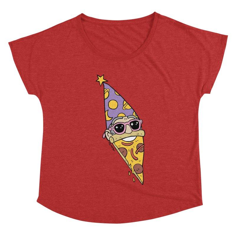 Pizza Wizard Women's Dolman Scoop Neck by brianmcl's Artist Shop
