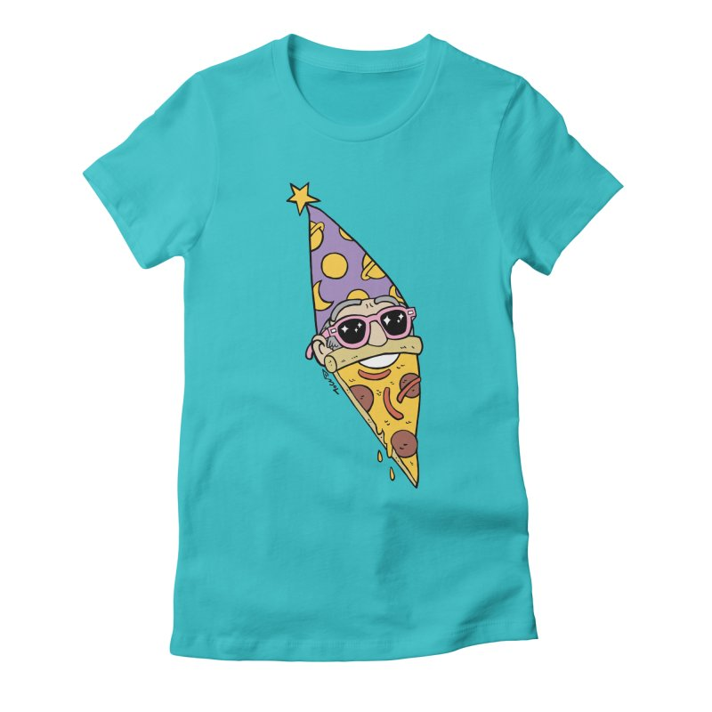 Pizza Wizard Women's Fitted T-Shirt by brianmcl's Artist Shop