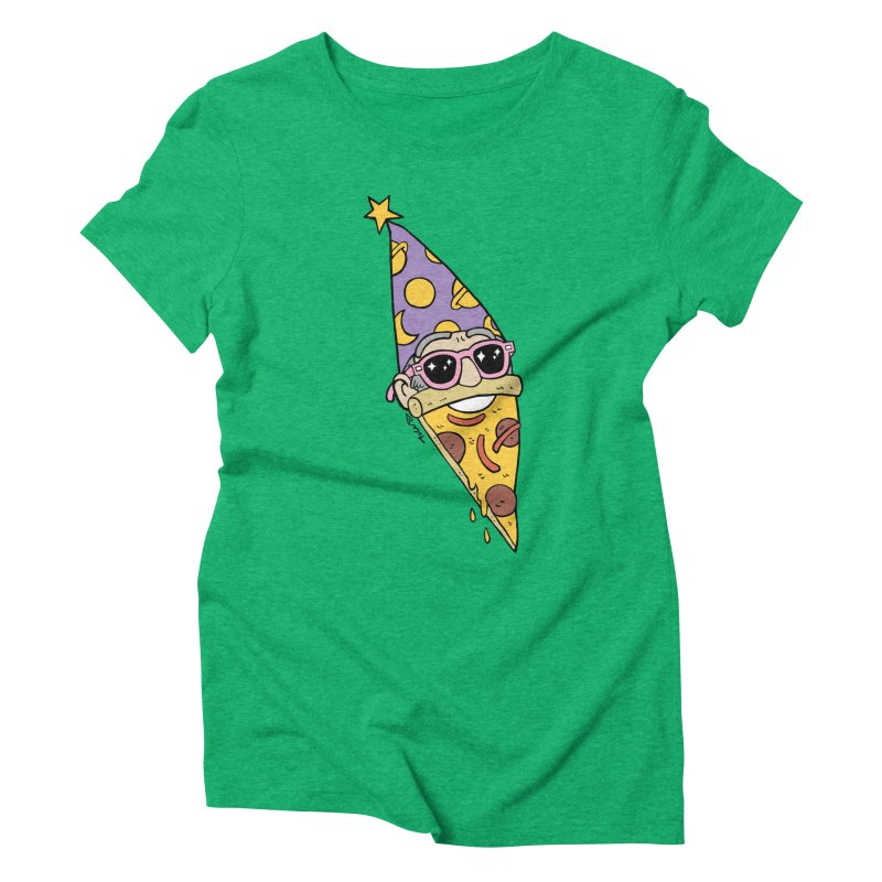 Pizza Wizard Women's Triblend T-Shirt by brianmcl's Artist Shop