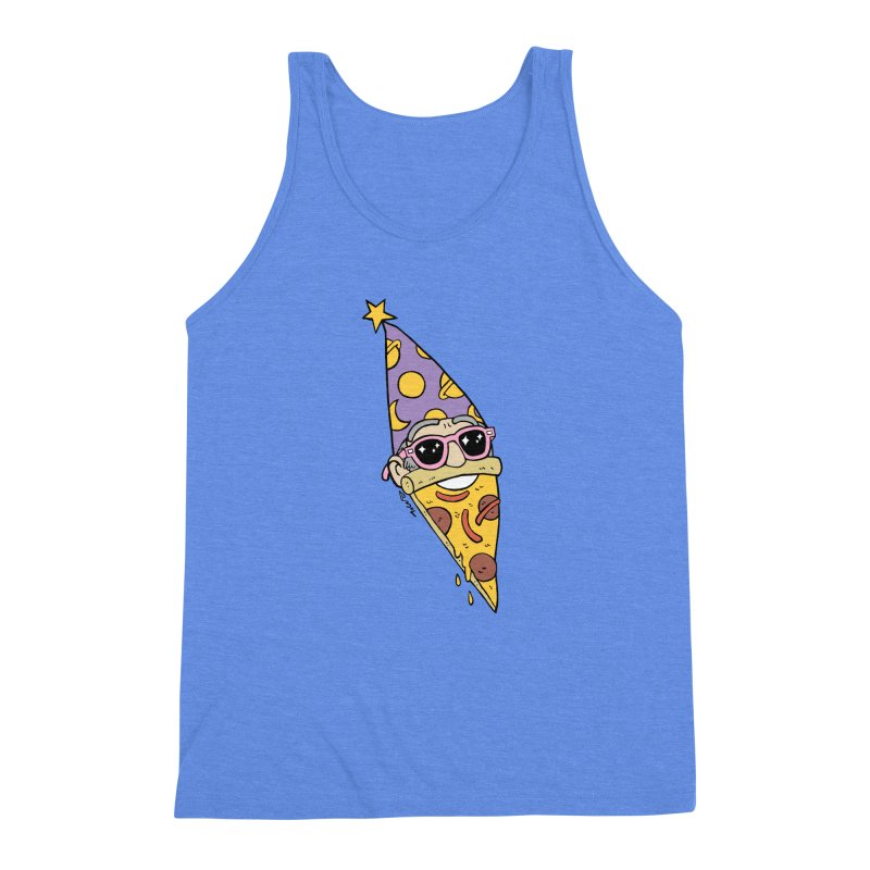 Pizza Wizard Men's Triblend Tank by brianmcl's Artist Shop