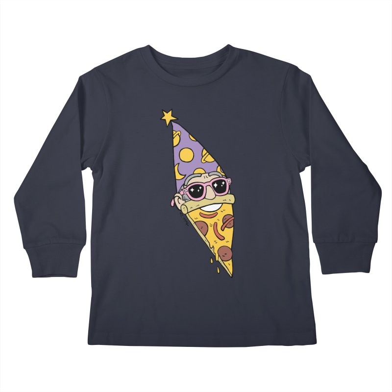 Pizza Wizard Kids Longsleeve T-Shirt by brianmcl's Artist Shop