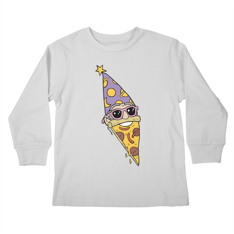 Pizza Wizard Kids Longsleeve T-Shirt by brianmcl's Artist Shop