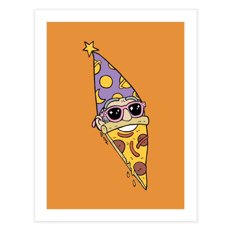 Pizza Wizard Home Fine Art Print by brianmcl's Artist Shop