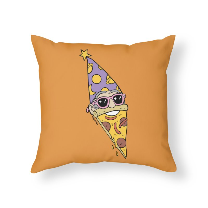 Pizza Wizard Home Throw Pillow by brianmcl's Artist Shop