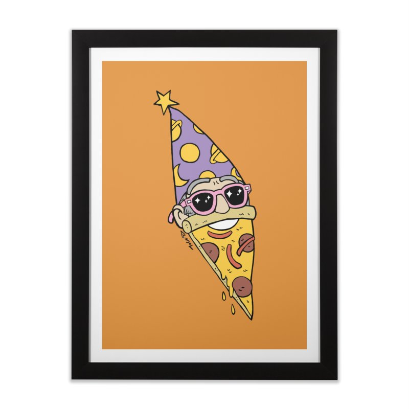 Pizza Wizard Home Framed Fine Art Print by brianmcl's Artist Shop