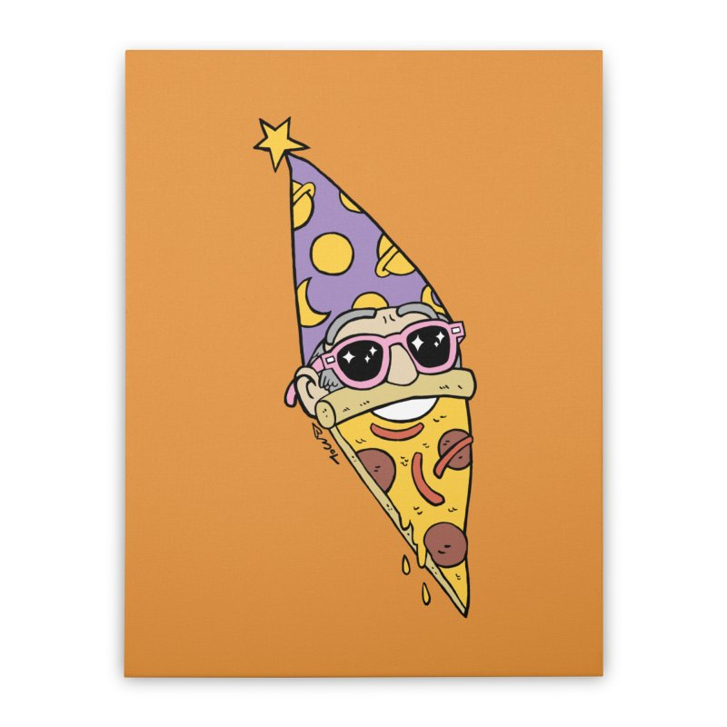 Pizza Wizard Home Stretched Canvas by brianmcl's Artist Shop