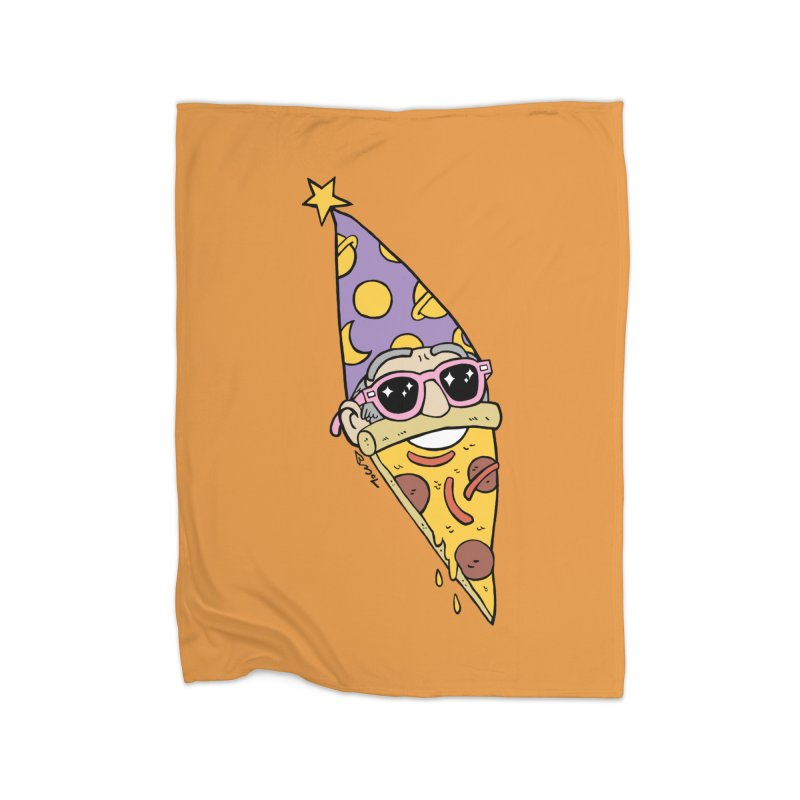 Pizza Wizard Home Fleece Blanket Blanket by brianmcl's Artist Shop