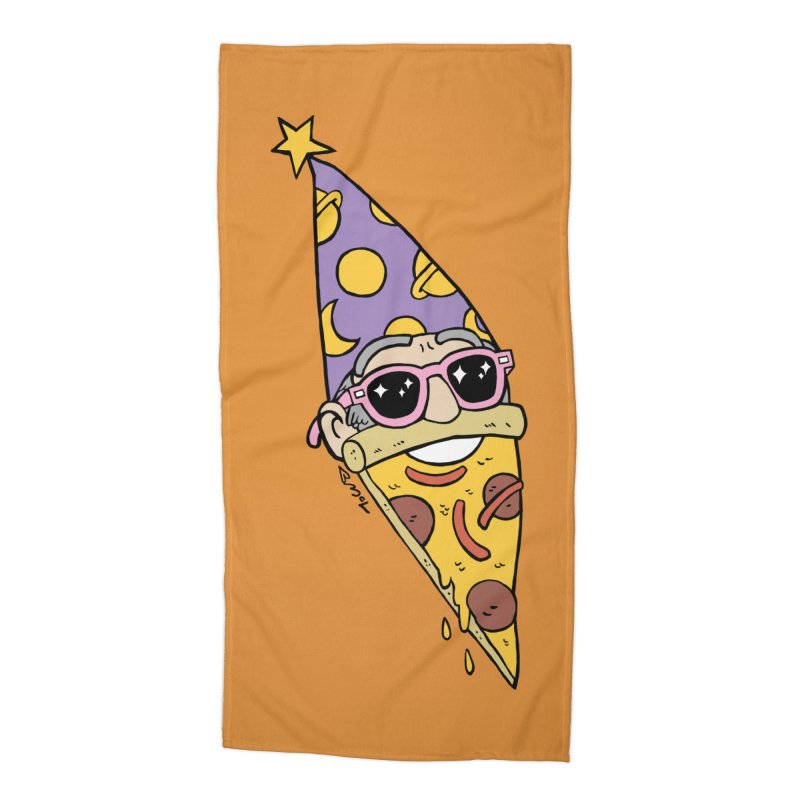 Pizza Wizard Accessories Beach Towel by brianmcl's Artist Shop