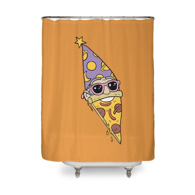 Pizza Wizard Home Shower Curtain by brianmcl's Artist Shop