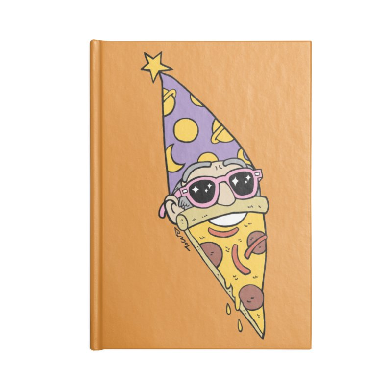 Pizza Wizard Accessories Lined Journal Notebook by brianmcl's Artist Shop