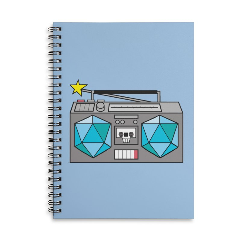 2d20 BoomBox Accessories Lined Spiral Notebook by brianmcl's Artist Shop