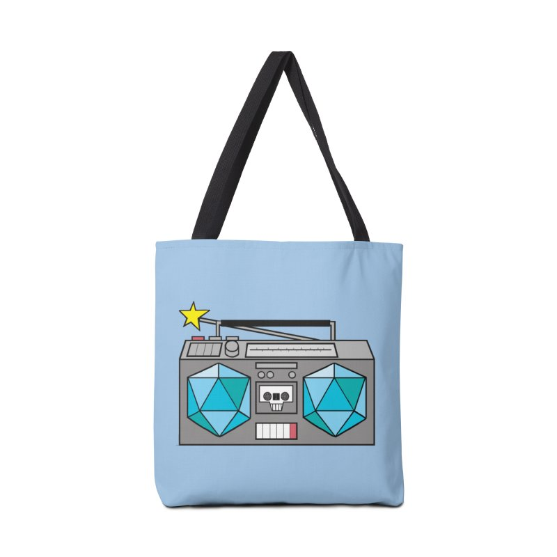 2d20 BoomBox Accessories Tote Bag Bag by brianmcl's Artist Shop