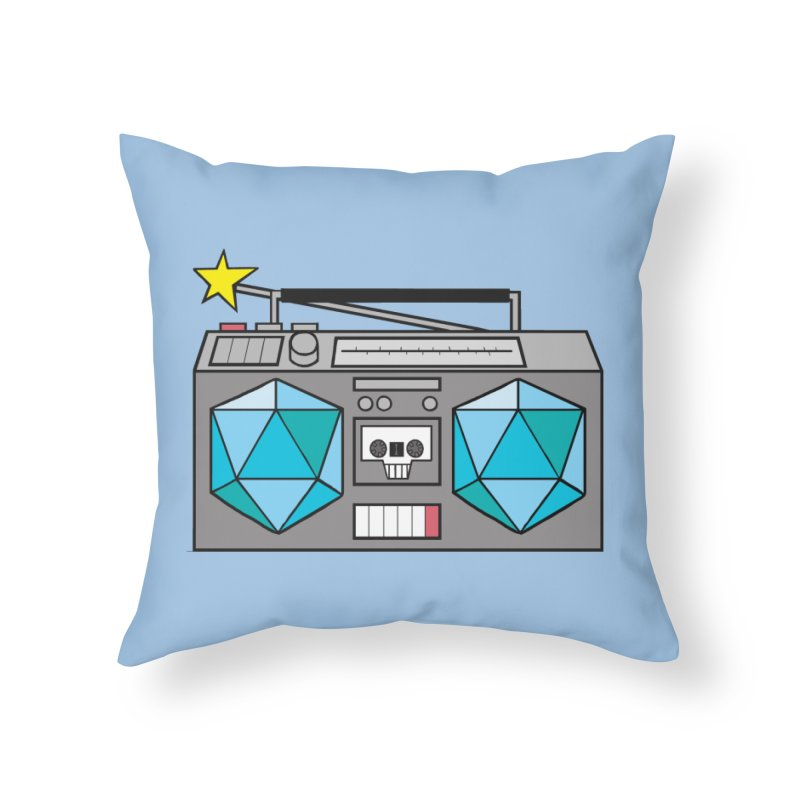 2d20 BoomBox Home Throw Pillow by brianmcl's Artist Shop