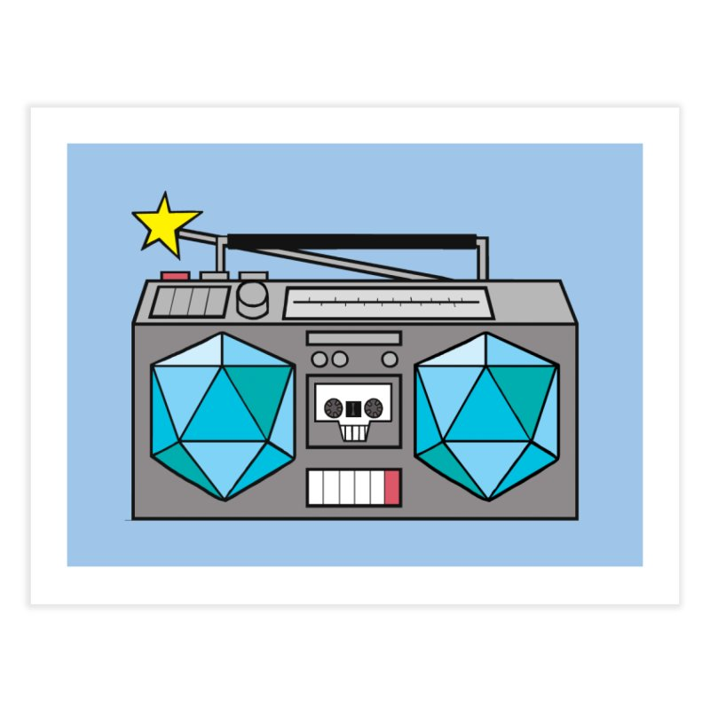 2d20 BoomBox Home Fine Art Print by brianmcl's Artist Shop