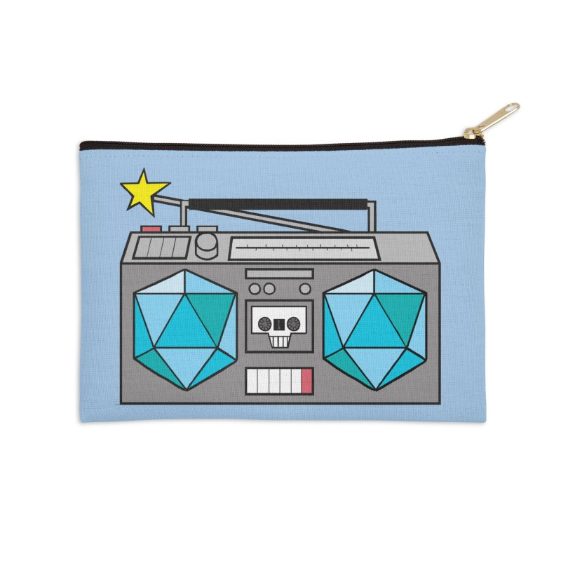 2d20 BoomBox Accessories Zip Pouch by brianmcl's Artist Shop