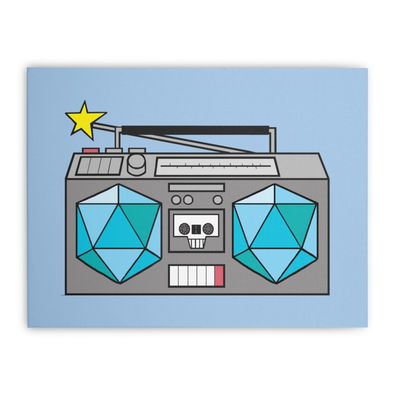 2d20 BoomBox Home Stretched Canvas by brianmcl's Artist Shop