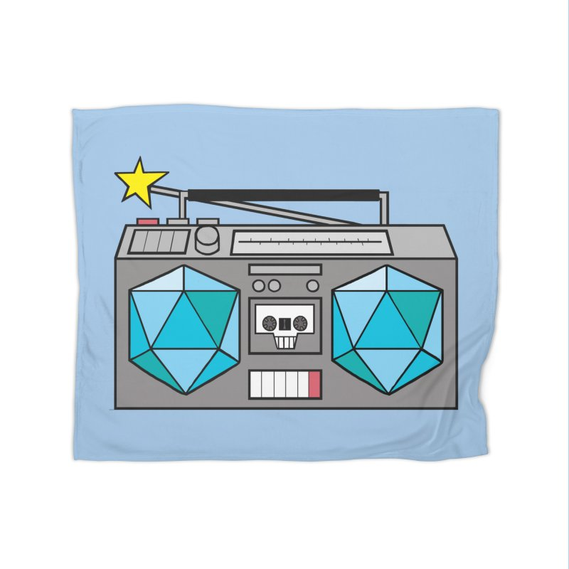 2d20 BoomBox Home Fleece Blanket Blanket by brianmcl's Artist Shop