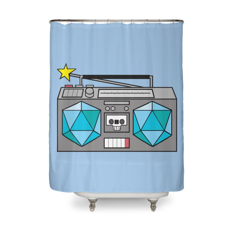 2d20 BoomBox Home Shower Curtain by brianmcl's Artist Shop
