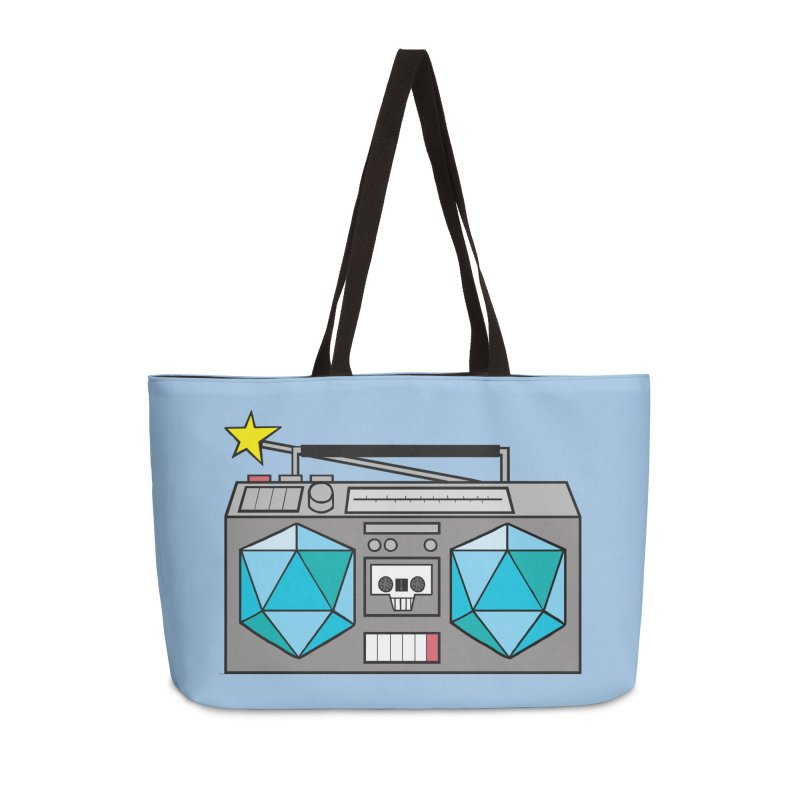 2d20 BoomBox Accessories Weekender Bag Bag by brianmcl's Artist Shop