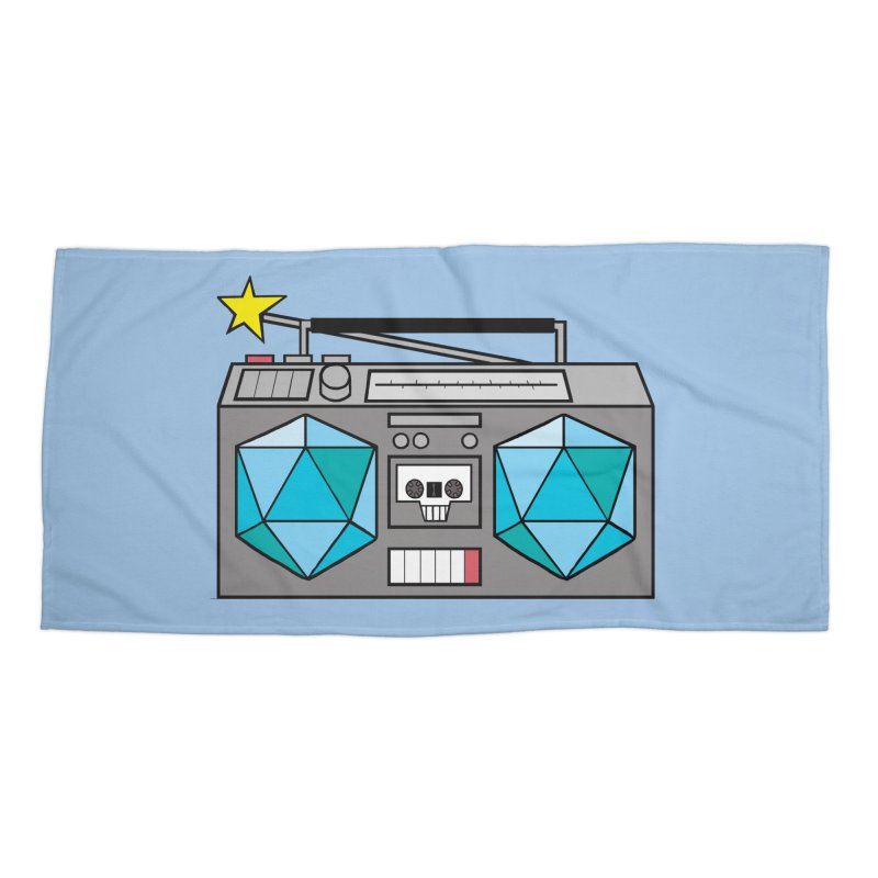 2d20 BoomBox Accessories Beach Towel by brianmcl's Artist Shop