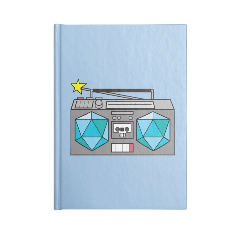 2d20 BoomBox Accessories Lined Journal Notebook by brianmcl's Artist Shop