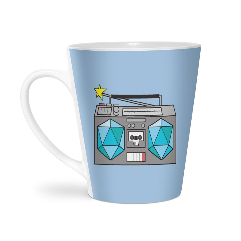 2d20 BoomBox Accessories Latte Mug by brianmcl's Artist Shop