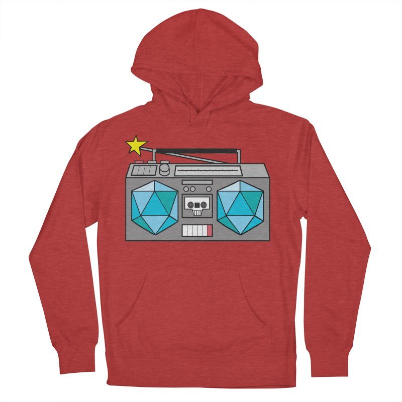 2d20 BoomBox Men's French Terry Pullover Hoody by brianmcl's Artist Shop