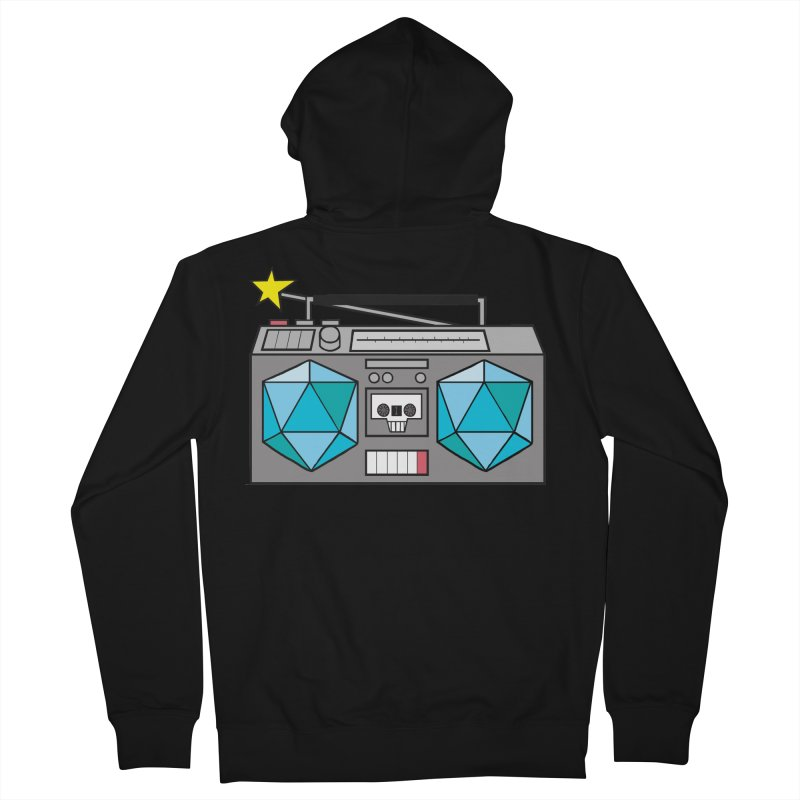 2d20 BoomBox Women's French Terry Zip-Up Hoody by brianmcl's Artist Shop