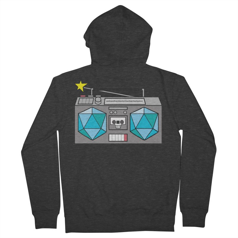 2d20 BoomBox Men's French Terry Zip-Up Hoody by brianmcl's Artist Shop
