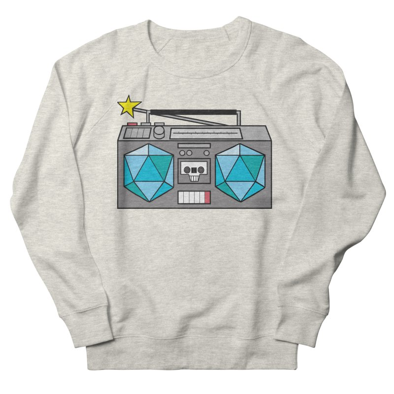 2d20 BoomBox Men's French Terry Sweatshirt by brianmcl's Artist Shop