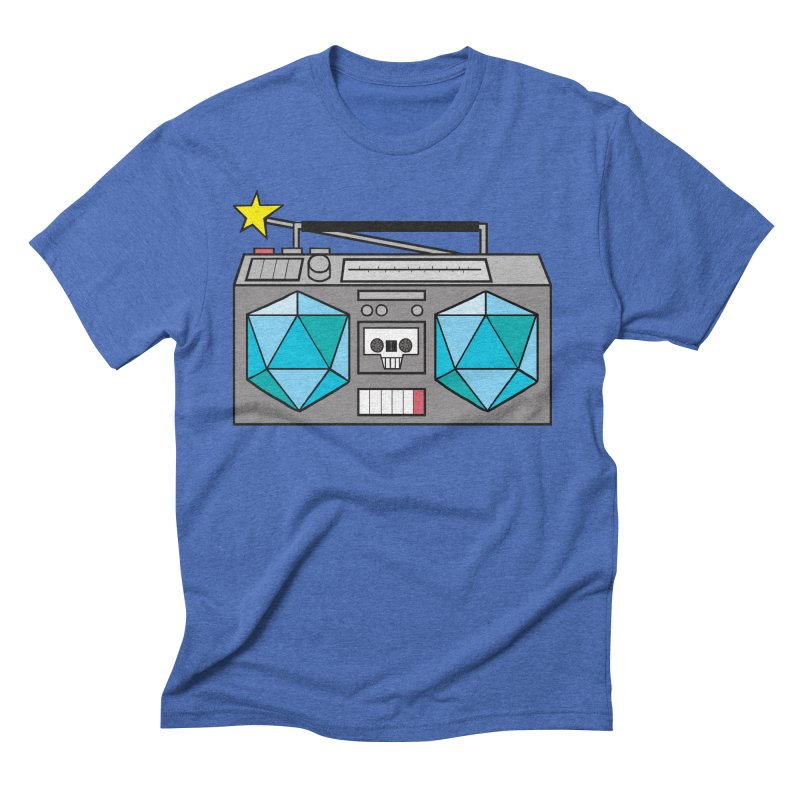 2d20 BoomBox Men's Triblend T-Shirt by brianmcl's Artist Shop